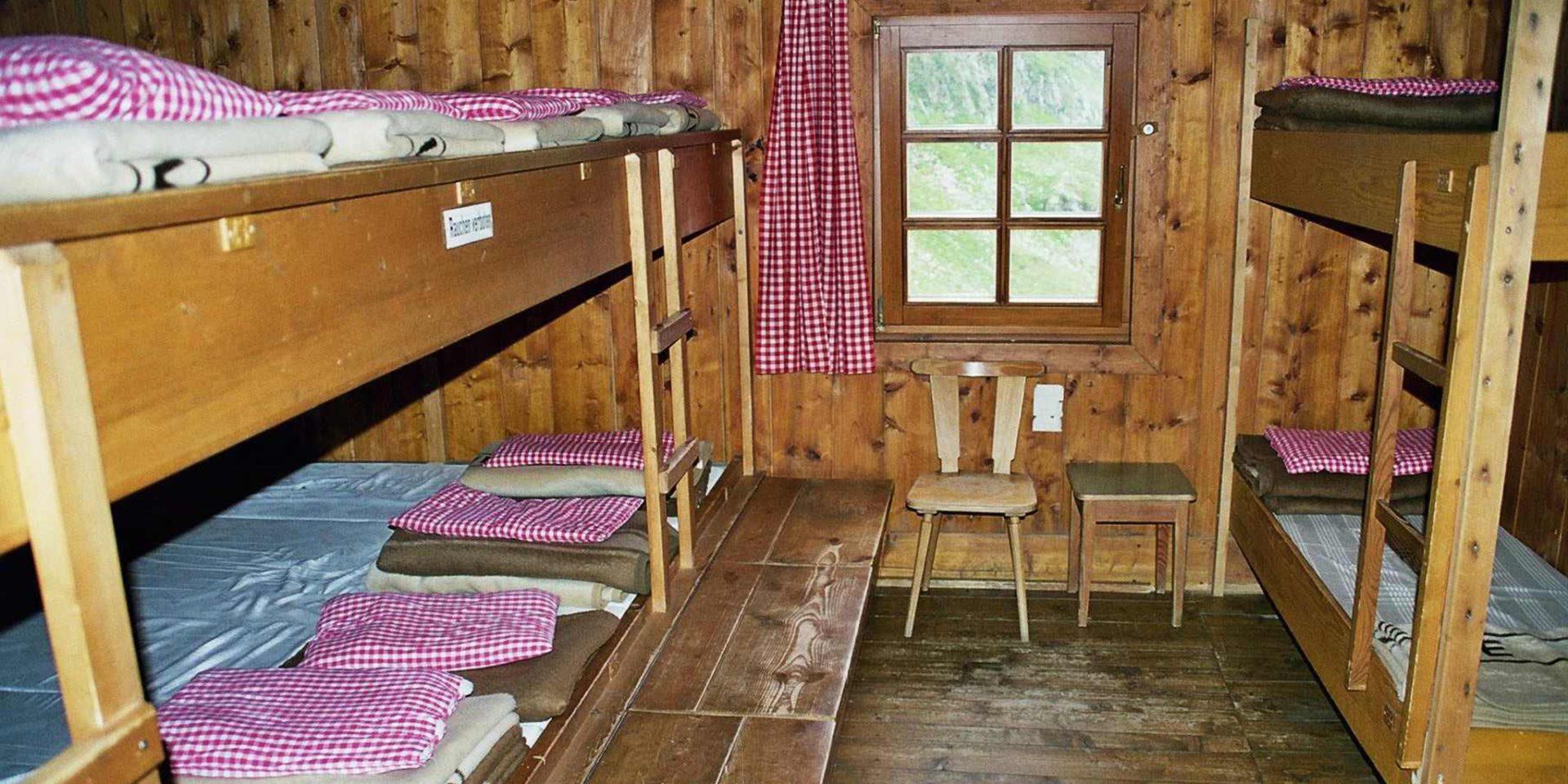 Elberfelder Hütte Lager Roter Knopf