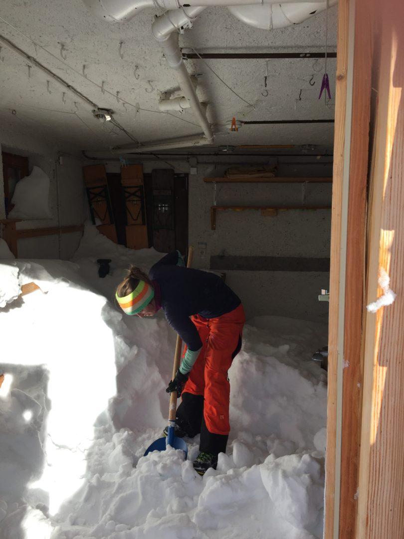Elberfelder Hütte Zugang Winterraum freiräumen