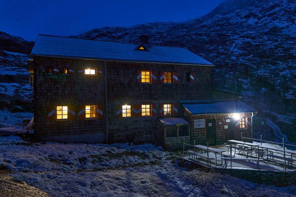 Elberfelder Hütte Nacht