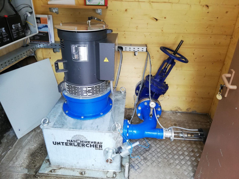 Elberfelder Hütte neue Turbine des Kleinwasserkraftwerks