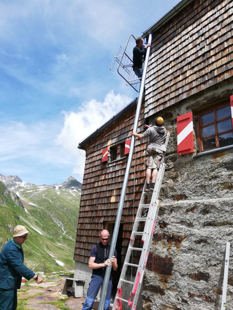 Elberfelder Hütte Fallrohr erneuern