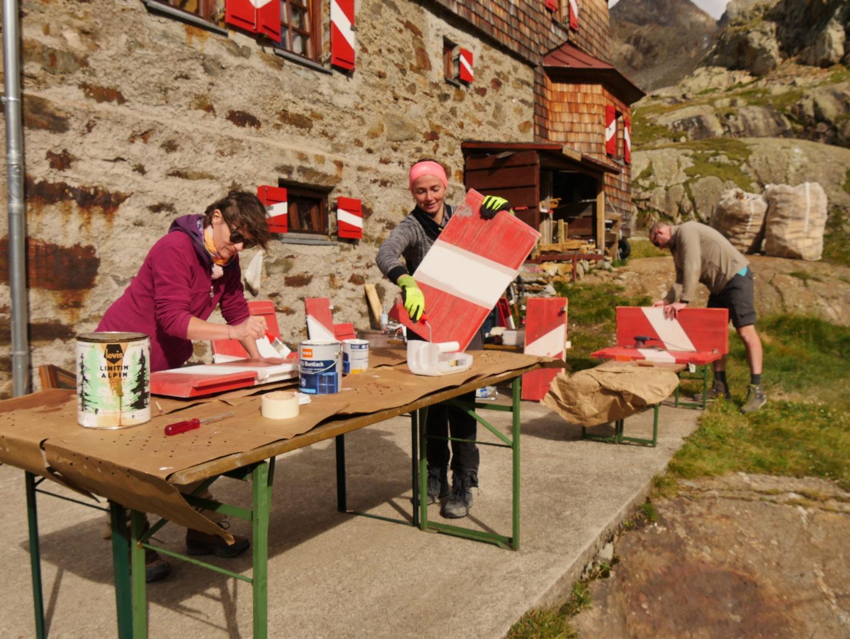 Elberfelder Hütte Malerarbeiten