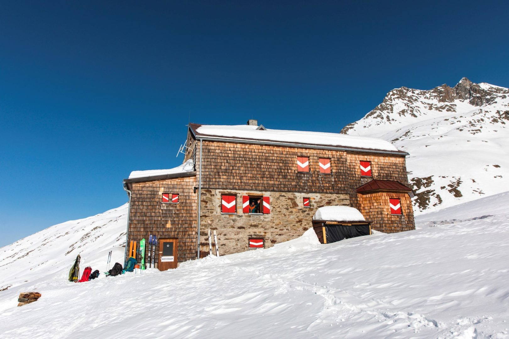 Elberfelder Hütte im Winter